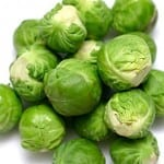 Chestnuts and Brussels Sprouts in Butter