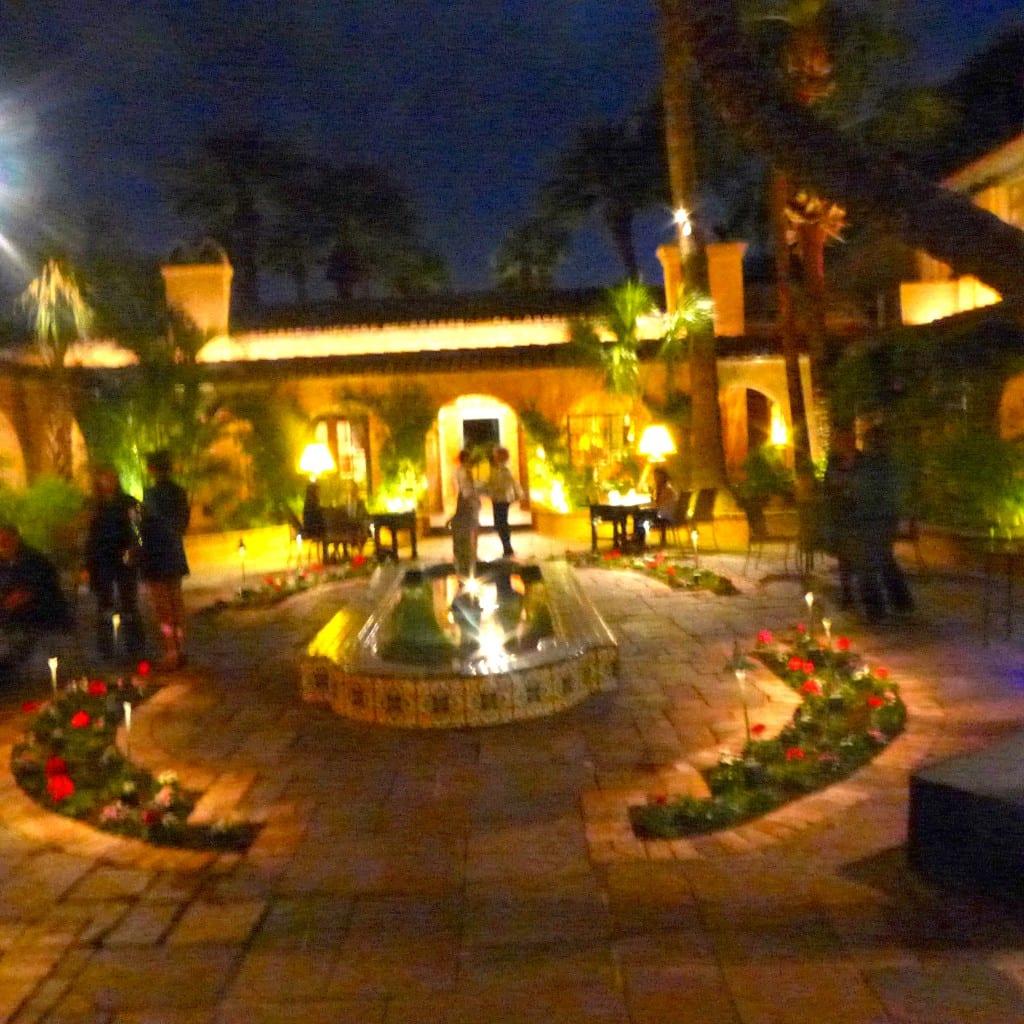 Royal Palms Courtyard Photo: Maralyn D. Hill