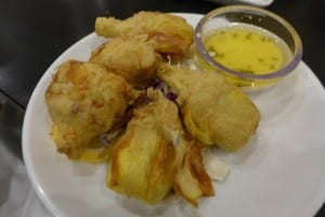 Fried Artichokes Photo: Maralyn D. Hill