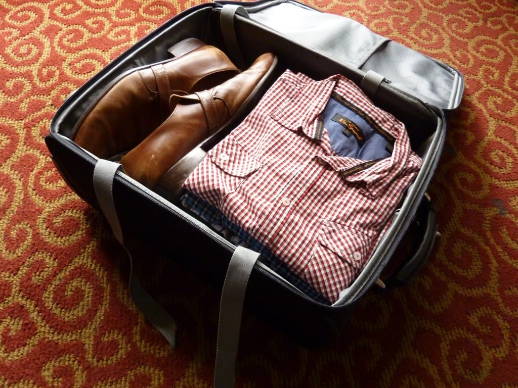 Packed Clothes in Container