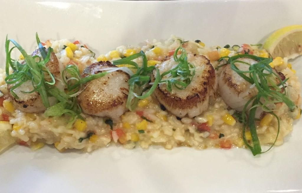 Scallops and Rissotto by Maralyn D. Hill