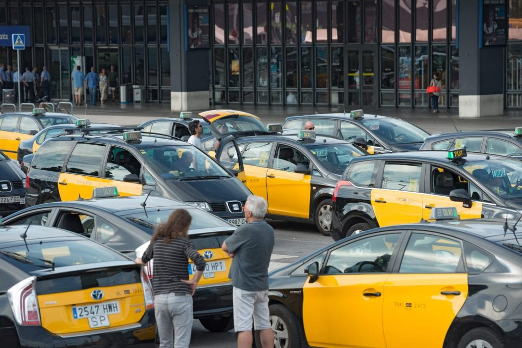 2017 taxi price index by carspring where and what in the world - Cab in barcelona ...